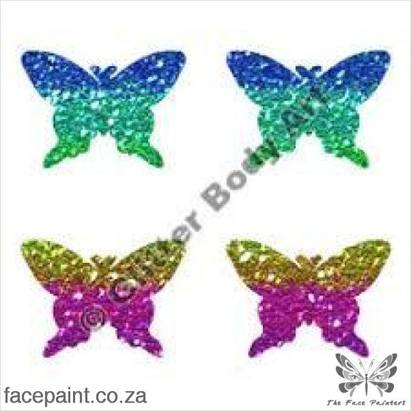 Glitter Tattoo Stencils - 240 Mini Butterfly Tattoos