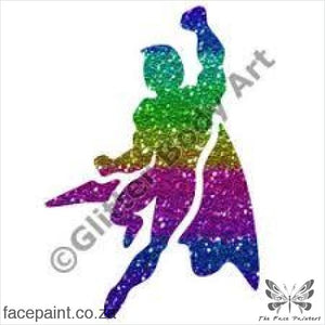 Glitter Tattoo Stencils - 250 Super Hero Tattoos