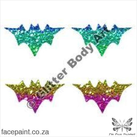 Glitter Tattoo Stencils - 259 Mini Bat Tattoos