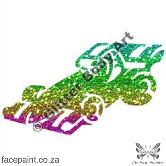 Glitter Tattoo Stencils - 261 Racing Car Tattoos