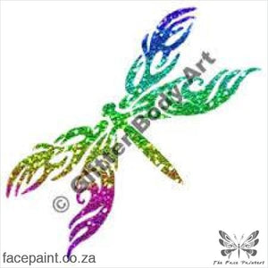 Glitter Tattoo Stencils - 262 Tribal Dragonfly Tattoos