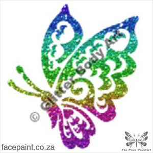 Glitter Tattoo Stencils - 264 Butterfly Tattoos
