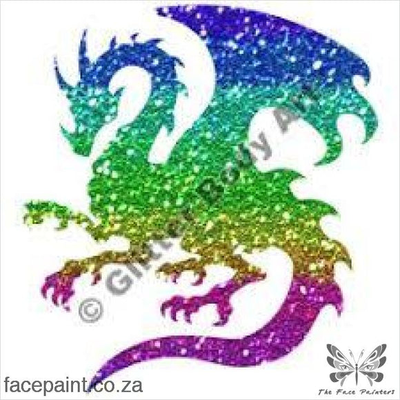 Glitter Tattoo Stencils - 284 Dragon Tattoos