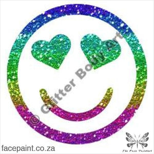 Glitter Tattoo Stencils - 332 Smiley Hearts Tattoos