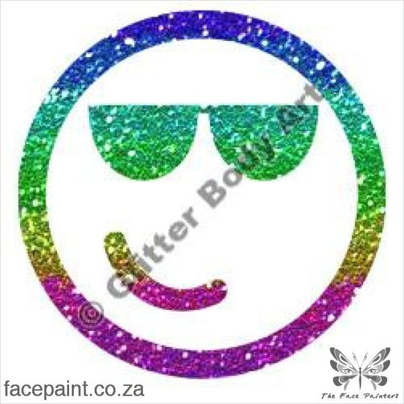Glitter Tattoo Stencils - 333 Smiley Cool Tattoos