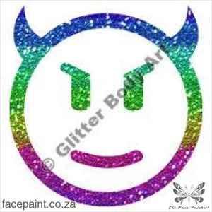 Glitter Tattoo Stencils - 334 Smiley Devil Tattoos