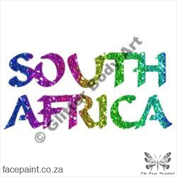 Glitter Tattoo Stencils - 339 South Africa Tattoos
