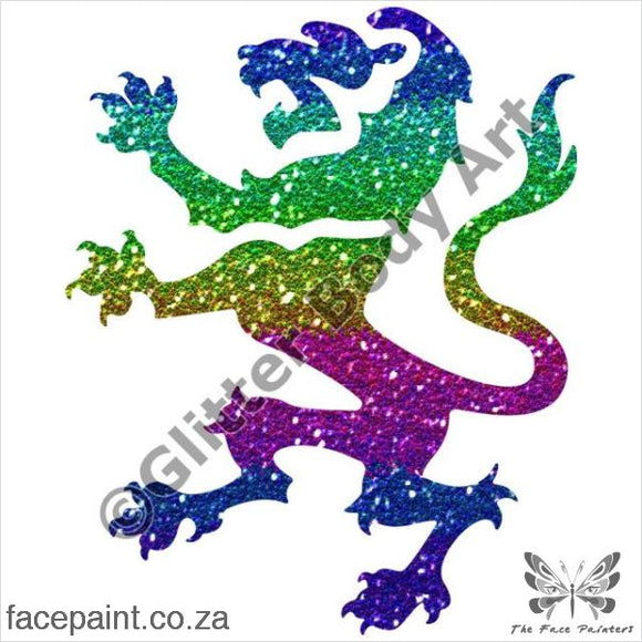 Glitter Tattoo Stencils - 346 Lion Tattoos