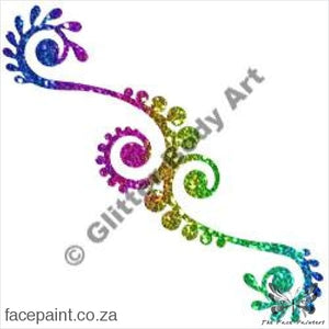 Glitter Tattoo Stencils - 353 Henna Design Tattoos