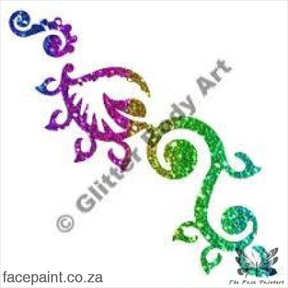 Glitter Tattoo Stencils - 354 Tribal Flower Tattoos