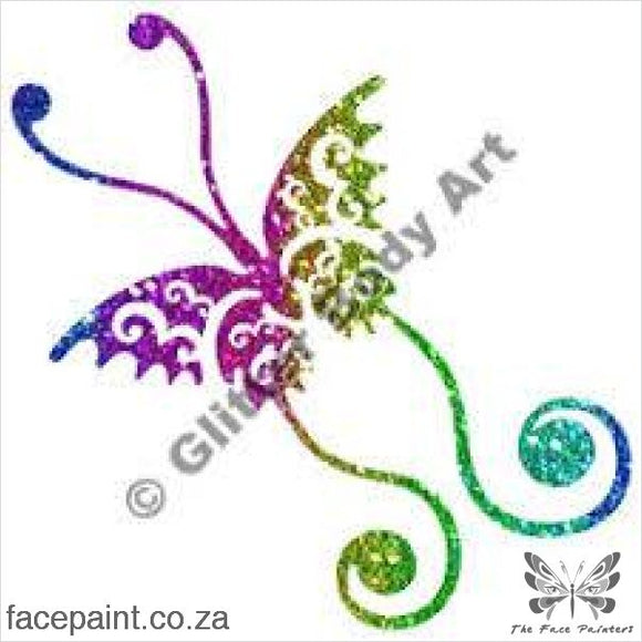 Glitter Tattoo Stencils - 356 Butterfly Tattoos