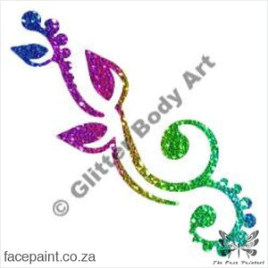 Glitter Tattoo Stencils - 358 Flower Swirl Tattoos
