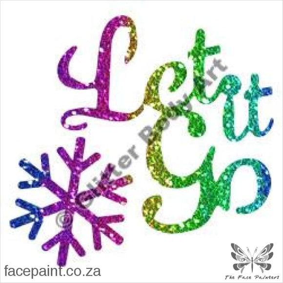 Glitter Tattoo Stencils - 369 Let It Go Tattoos