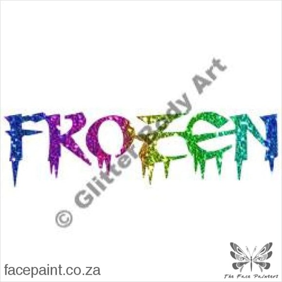 Glitter Tattoo Stencils - 370 Frozen Tattoos