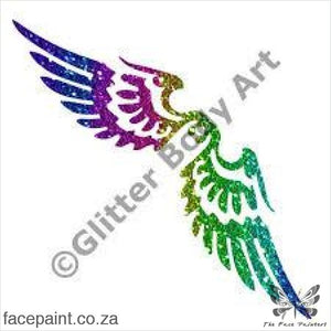Glitter Tattoo Stencils - 389 Angel Wings Tattoos