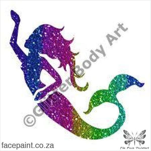 Glitter Tattoo Stencils - 402 Aqua Mermaid Tattoos