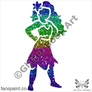 Glitter Tattoo Stencils - 419 Moana Tattoos