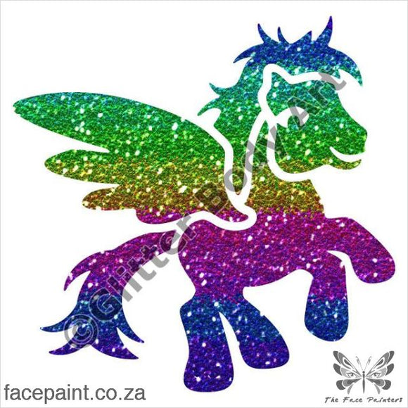 Glitter Tattoo Stencils - 420 Pony Wings Tattoos