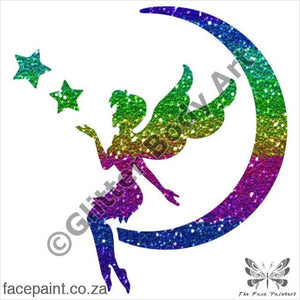Glitter Tattoo Stencils - 422 Fairy Moon Tattoos