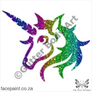 Glitter Tattoo Stencils - 430 Unicorn Tattoos