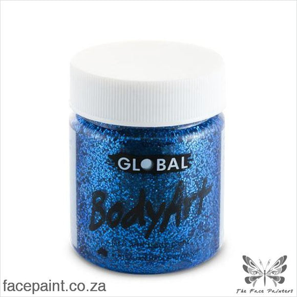 Global Face Paint Liquid Blue Glitter Paints