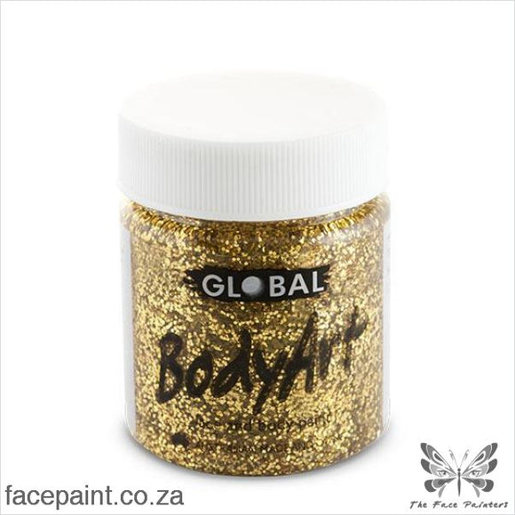 Global Face Paint Liquid Gold Glitter Paints