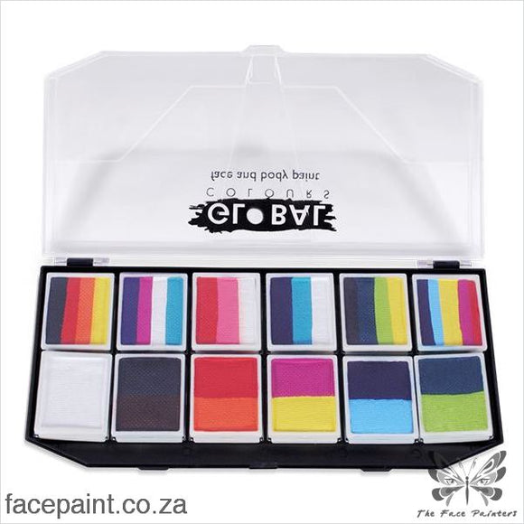 Global Face Paint Palette Carnival Kit Paints