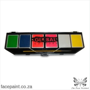 Global Face Paint Palette Neon Paints