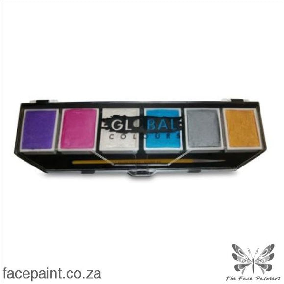 Global Face Paint Palette Pearl Paints