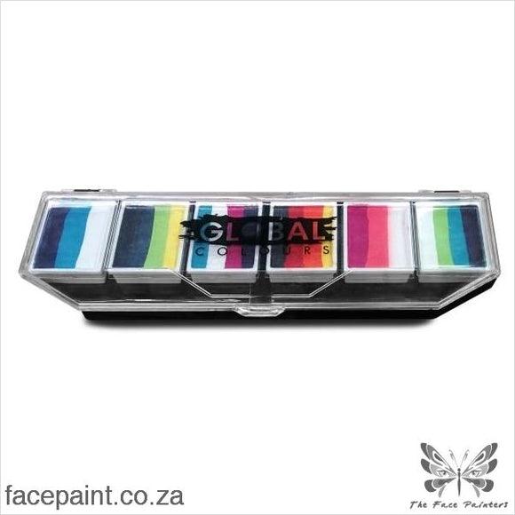 Global Face Paint Palette Rainbow Burst Paints