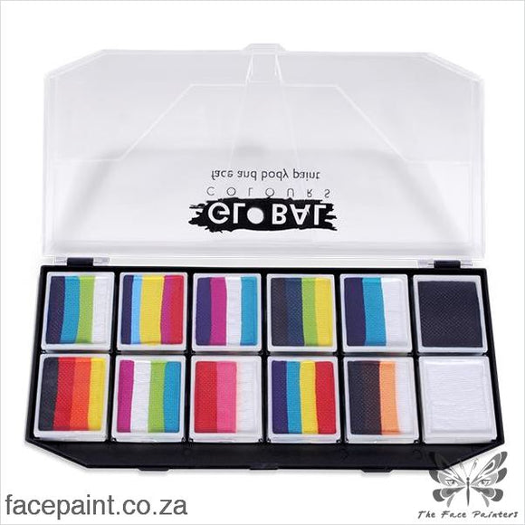 Global Face Paint Palette Rainbow Explosion Kit Paints