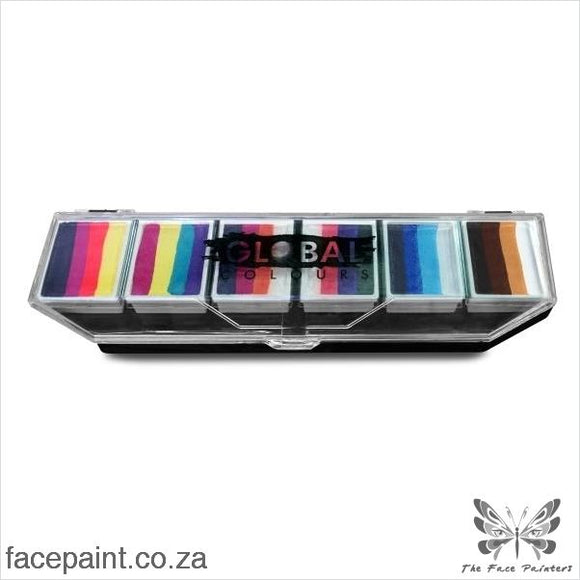 Global Face Paint Palette Rainbow Splash Paints