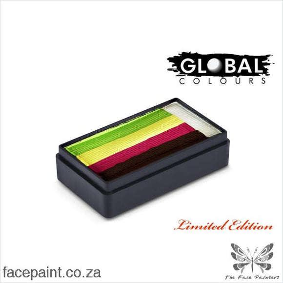 Global Face Paint Split Cake Fun Stroke Double Dip Rose Garden Paints