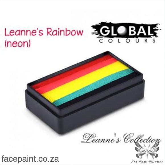 Global Face Paint Split Cake Fun Stroke Leannes Neon Rainbow Paints