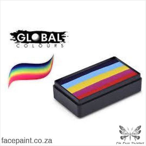 Global Face Paint Split Cake Fun Stroke Leannes Rainbow Paints