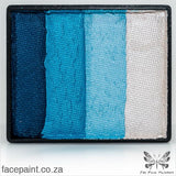 Global Face Paint Split Cake Rainbow Antarctica Paints