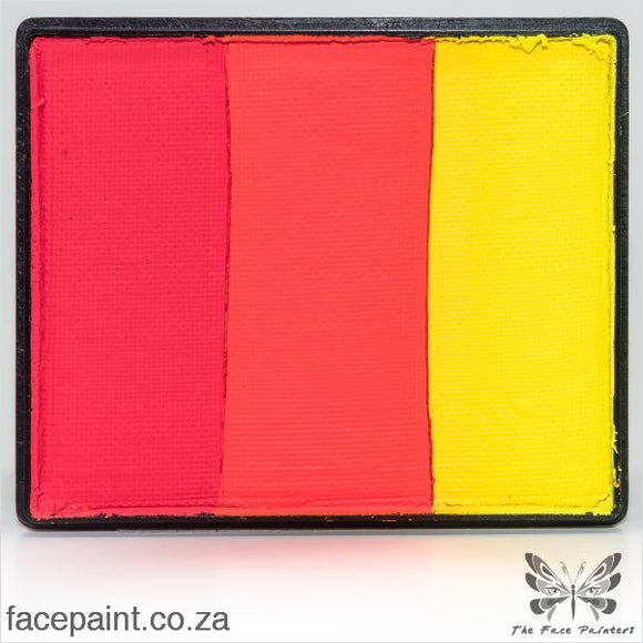 Global Face Paint Split Cake Rainbow India Paints