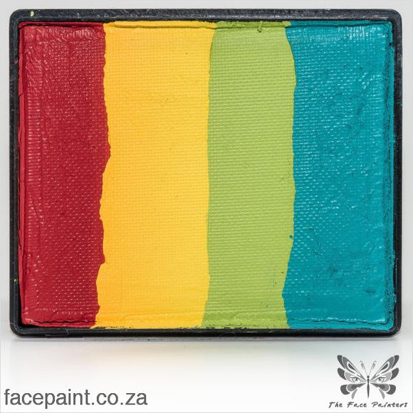 Global Face Paint Split Cake Rainbow Vegas Paints