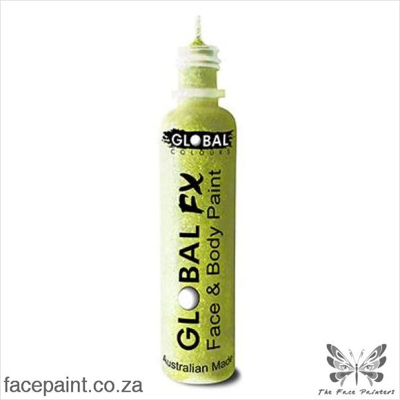 Global Fx Glitter Gel Iridescent Yellow