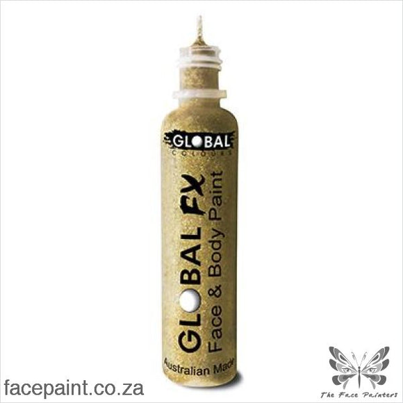 Global Fx Glitter Gel Soft Gold