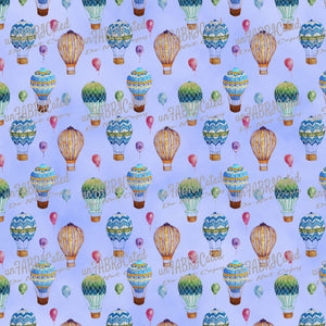 FABArt Custom Print Fabric - Showcase SA Designer unFABRICated - Hot Air Balloons (printed without watermark)
