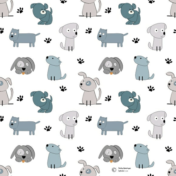 FABArt Custom Print Fabric - Showcase SA Designer Shirley Labuschagne - Kids 13 Dogs