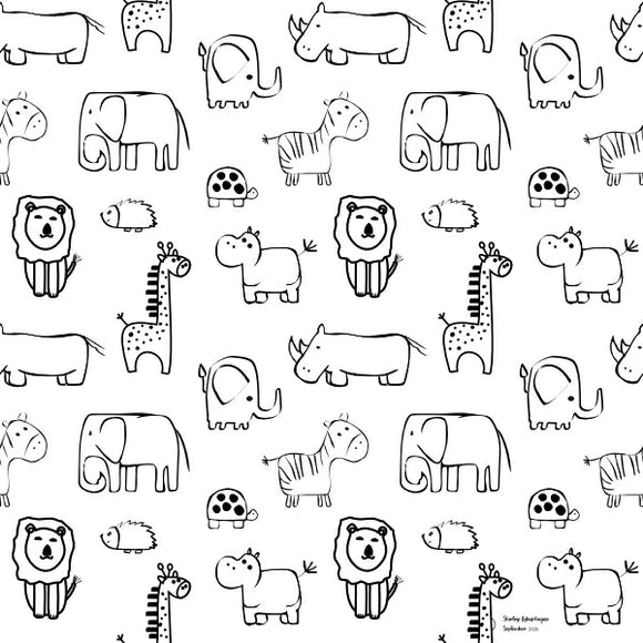 FABArt Custom Print Fabric - Showcase SA Designer Shirley Labuschagne - Kids 14 Safari