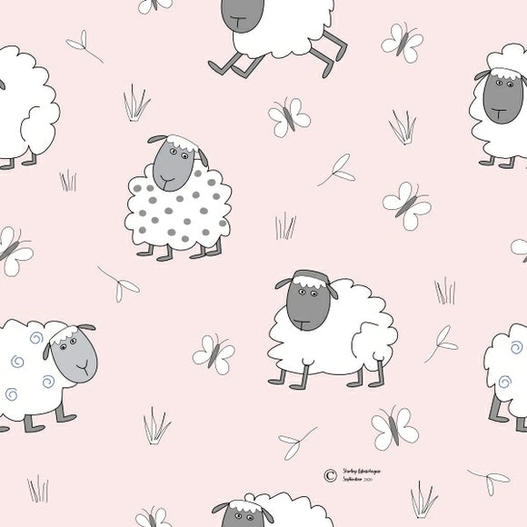 FABArt Custom Print Fabric - Showcase SA Designer Shirley Labuschagne - Kids 18 Sheep
