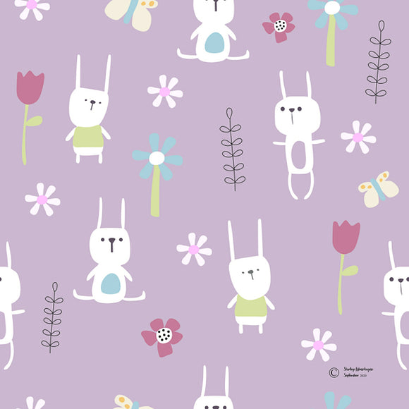 FABArt Custom Print Fabric - Showcase SA Designer Shirley Labuschagne - Kids 19 Bunnies