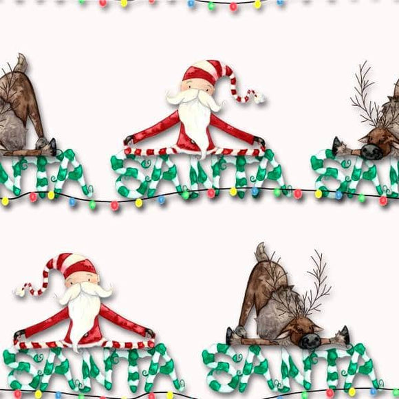 Designer Fabric - per metre - Lola Graphic Images - Santa-The Face Painters South Africa for Custom-Printed Fabric and Facepaint Supplies