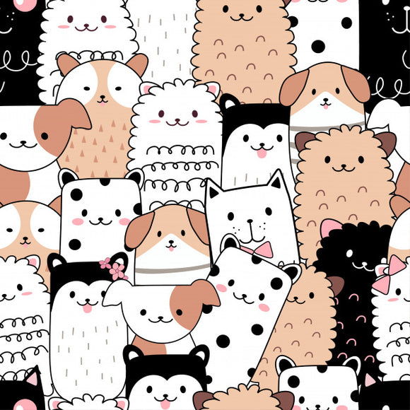 Designer Fabric - per metre - Cute Animal Cartoon-The Face Painters South Africa for Custom-Printed Fabric and Facepaint Supplies