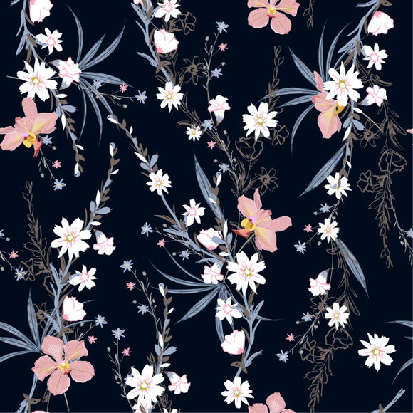 Designer Fabric - per metre - Garden Botanical Plants-The Face Painters South Africa for Custom-Printed Fabric and Facepaint Supplies