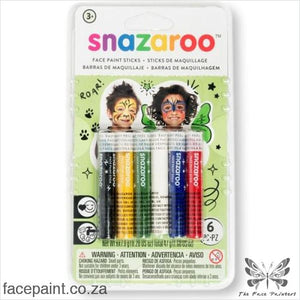 Snazaroo Face Paint Sticks Rainbow Paints