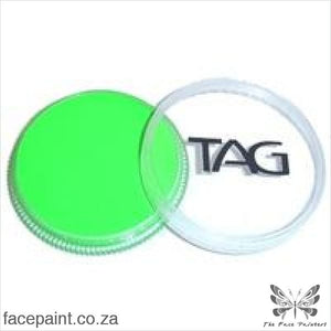Tag Face Paint Neon Green Paints